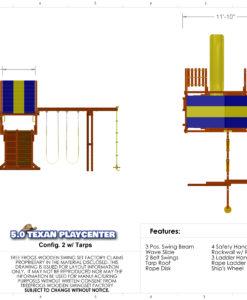 5.0 Texan Playcenter Config 2 with Tarp Specs
